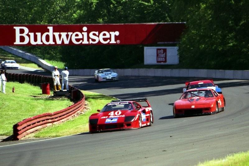 Olivier Grouillard Ferrari F40 LM IMSA Mid Ohio 1990