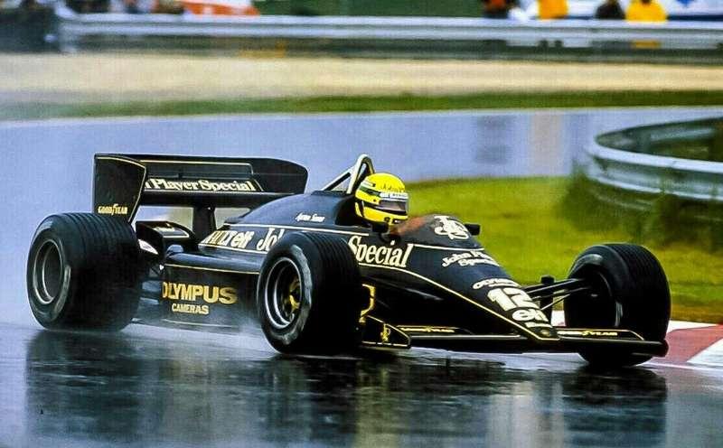 Ayrton Senna Victoire à Estoril en 1985 Lotus 97t