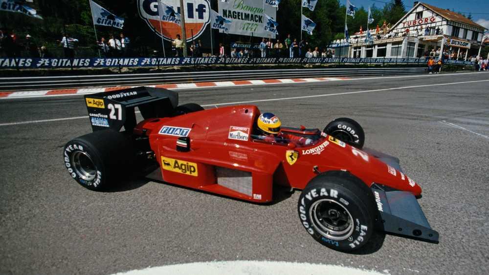 Michele Alboreto Ferrari Spa 1985