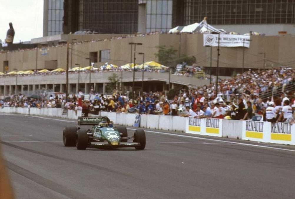 Michele Alboreto Tyrrell Detroit 1983